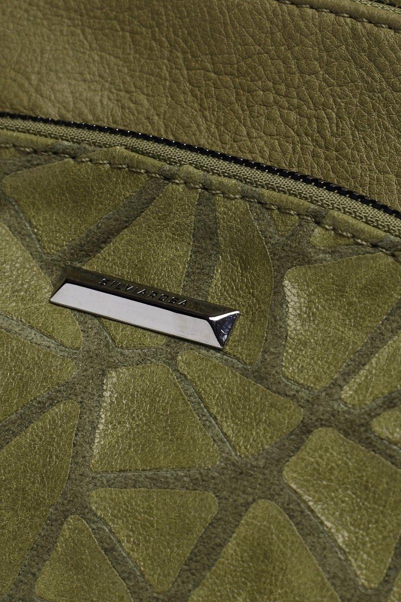 Pracovní koženková dámská kabelka Happy life, zelená