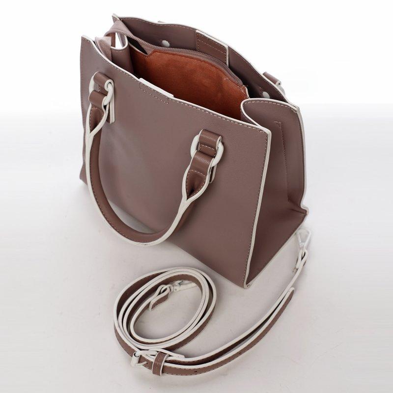 Elegantní dámská koženková kabelka Rianna,lila
