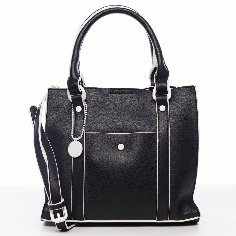 Elegantní dámská koženková kabelka Rianna,černá