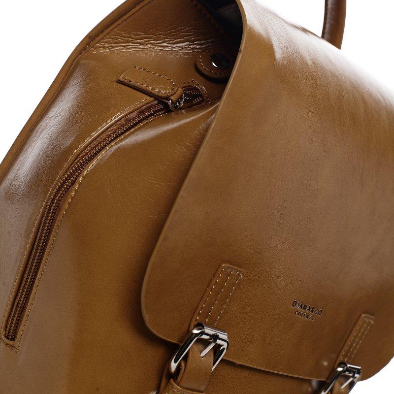 Městský dámský koženkový batoh Spring light, hnědý