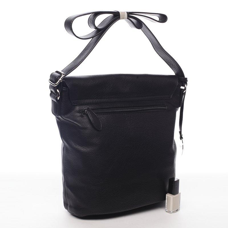 Moderní dámská koženková crossbody kabelka Sunny day, černá
