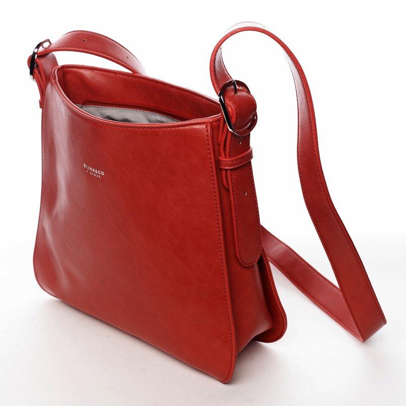 Moderní italská crossbody kabelka Dianas, červená