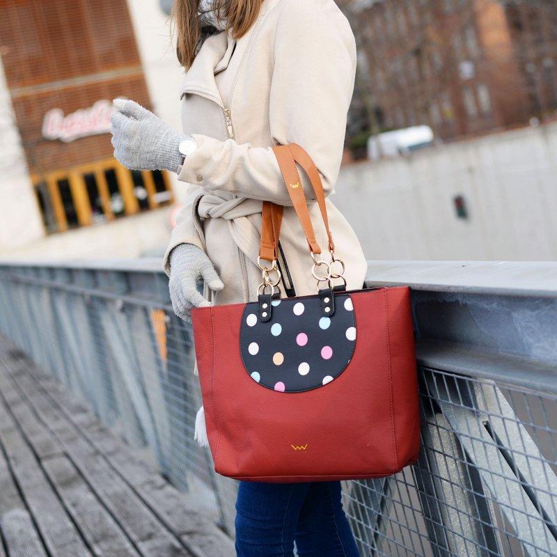 Designová kabelka VUCH Collorful Cynthia, červená