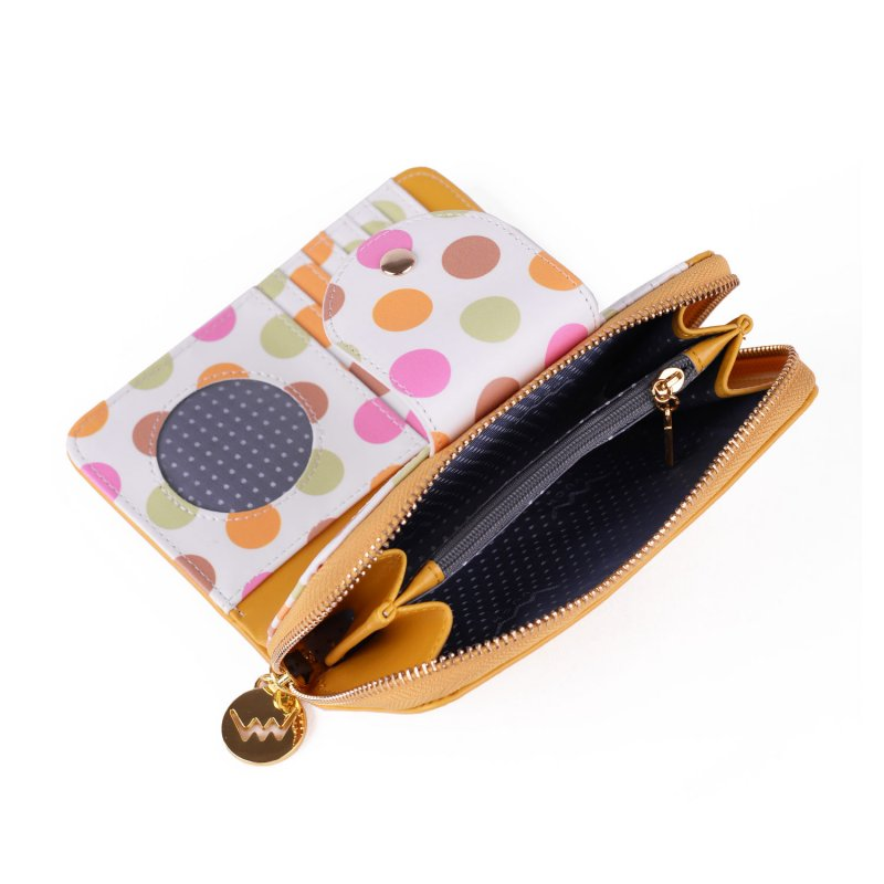 Designová peněženka VUCH Vicky, žlutá