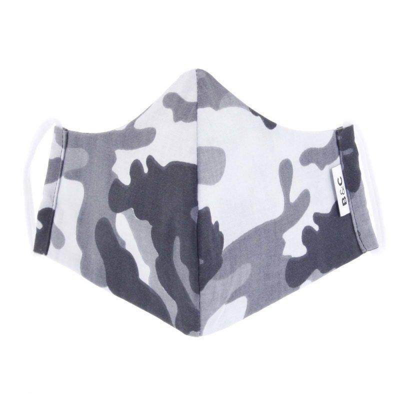 Nano rouška české výroby B&C, maskáčová bílá, velikost M