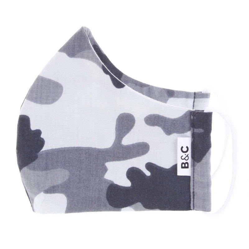 Nano rouška české výroby B&C, maskáčová bílá, velikost L