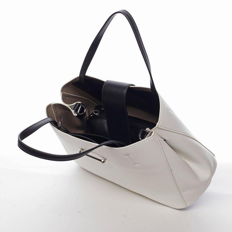 Elegantní dámská koženková kabelka Aida, bílá
