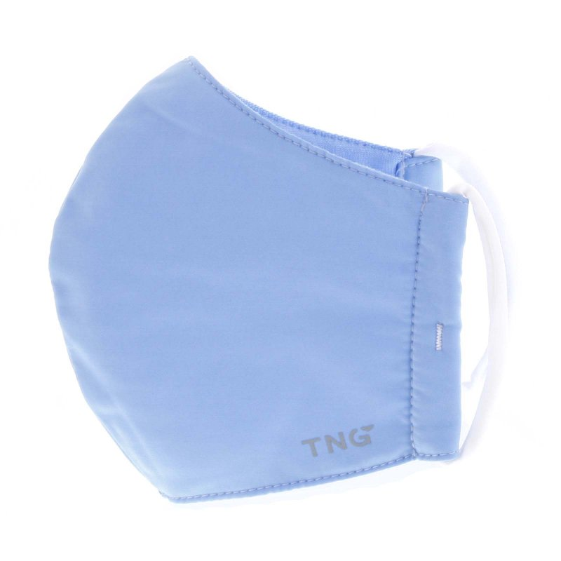 Stylová antibakteriální rouška TNG nebesky modrá, třívrstvá, velikost M