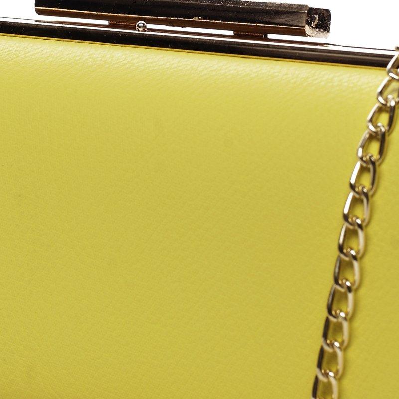 Moderní koženkové psaníčko Lovely Lu, žluté