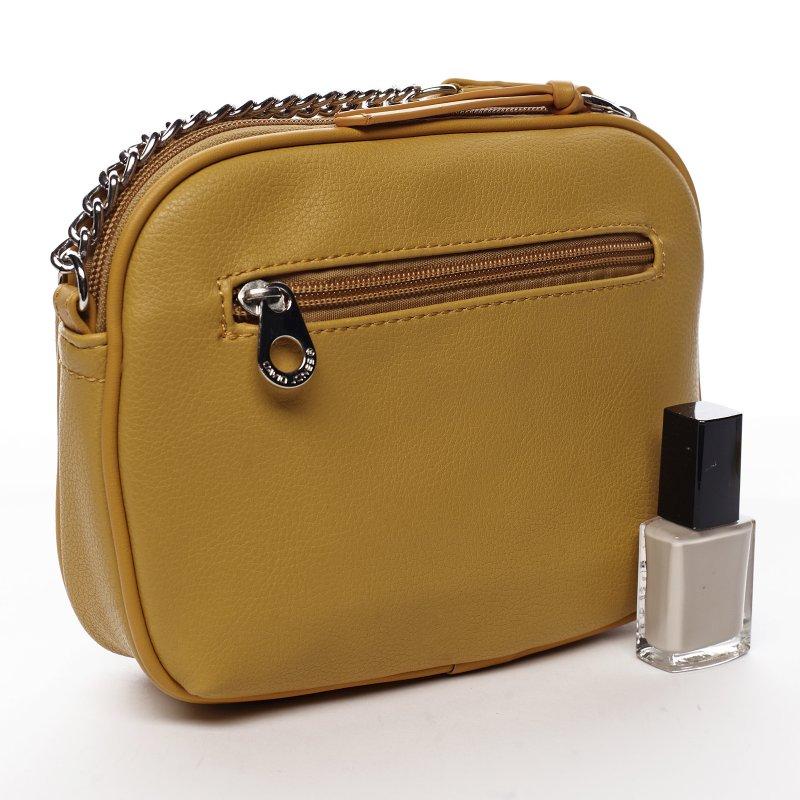 Menší koženková kabelka Little lady, žlutá