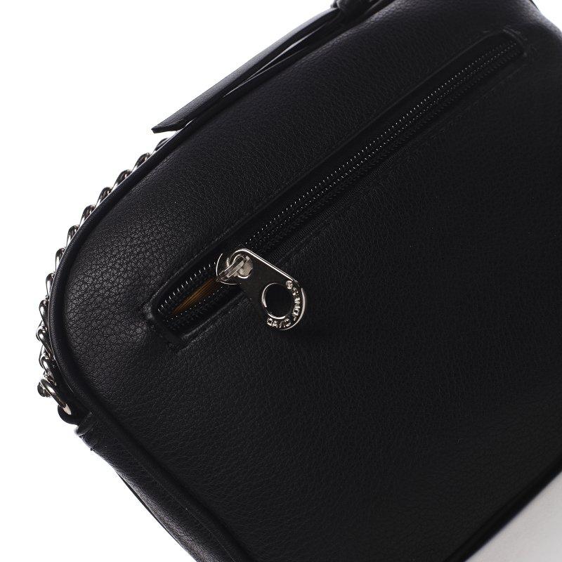 Menší koženková kabelka Little lady, černá