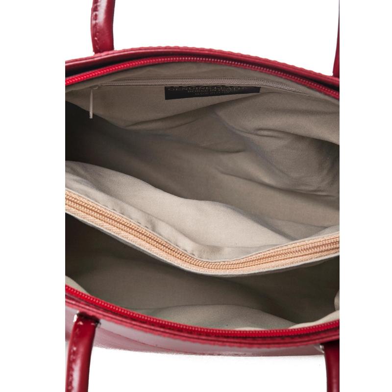 452b2bce90 Dámská kožená kabelka Sara červená