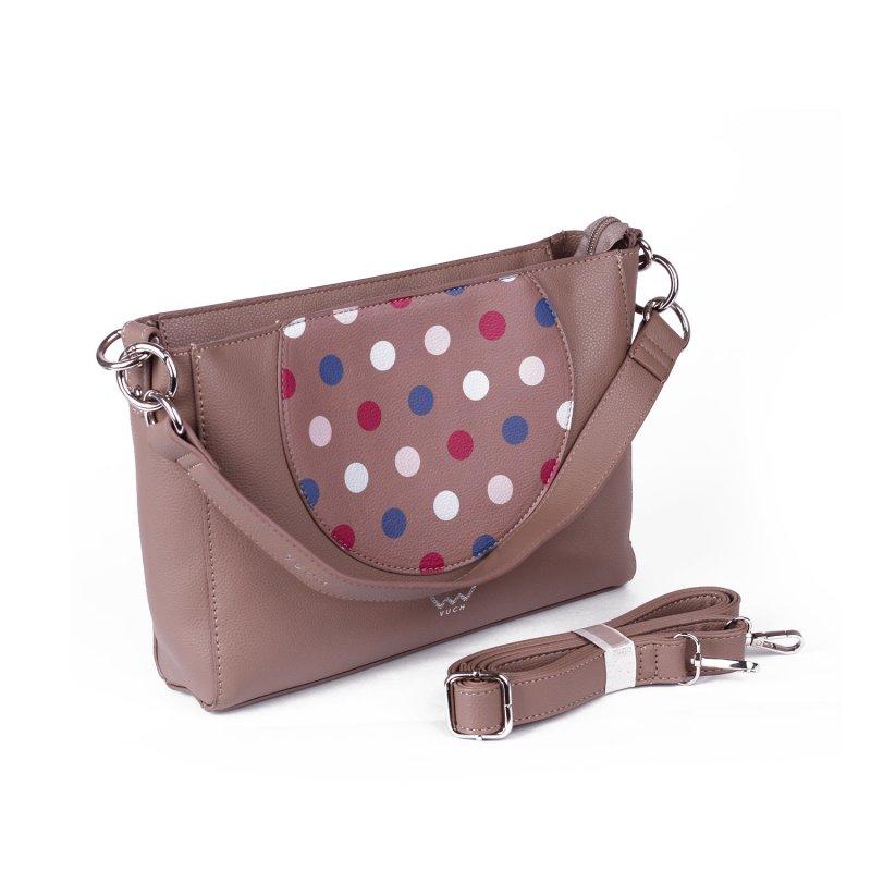Designová dámská koženková kabelka VUCH Softy Sue, béžová
