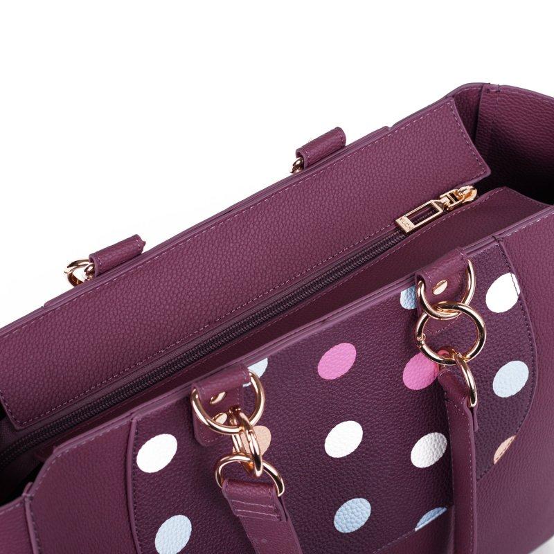 Trendová dámská koženková kabelka VUCH Brave Magenta