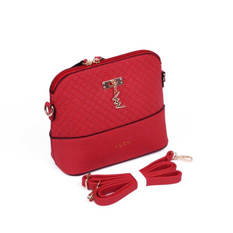 Dámská koženková kabelka VUCH Pulata, červená