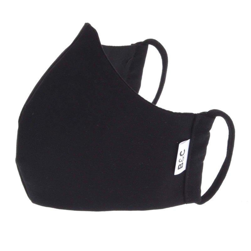 Nano rouška české výroby B&C, black, velikost L