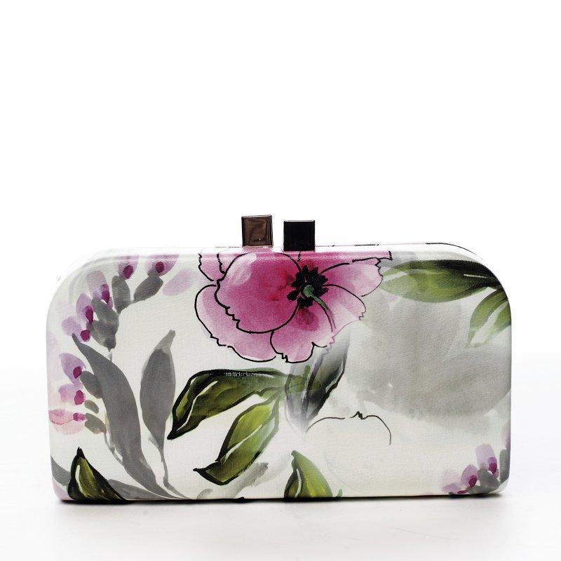 Romantická společenská kabelka Flower bride, lila