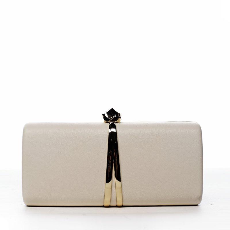 Elegantní dámská společenská kabelka Paris star, béžová