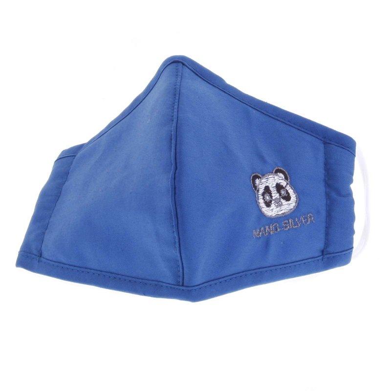 Dětská antibakteriální rouška vel. S, modrá s pandou