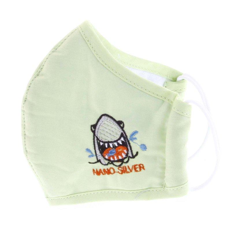 Dětská antibakteriální rouška vel. S, zelená se žralokem