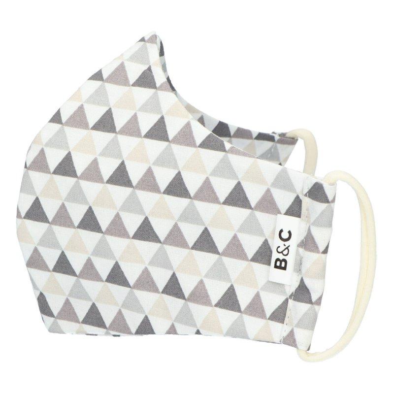 Nano rouška , české výroby B&C, šedá s trojúhelníky , velikost L