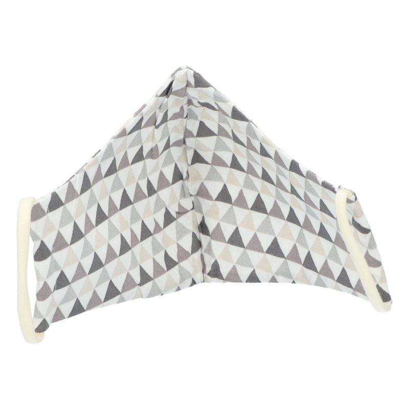 Nano rouška , české výroby B&C, šedá s trojúhelníky , velikost M