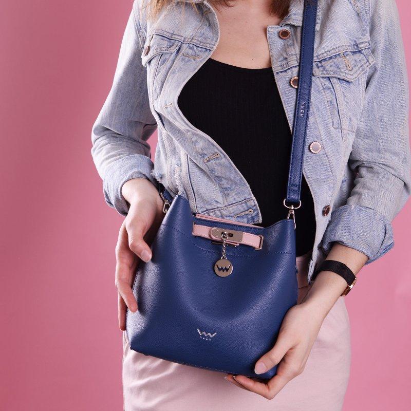 Designová dámská koženková kabelka VUCH Tamara, modrá