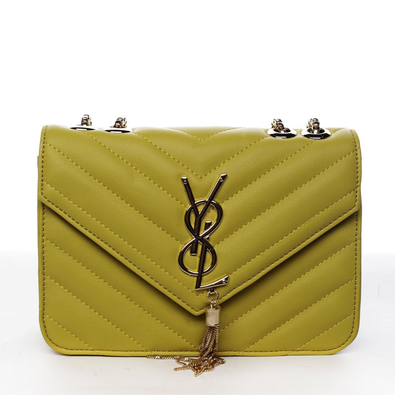 Trendová menší koženková kabelka Y&L, žlutá