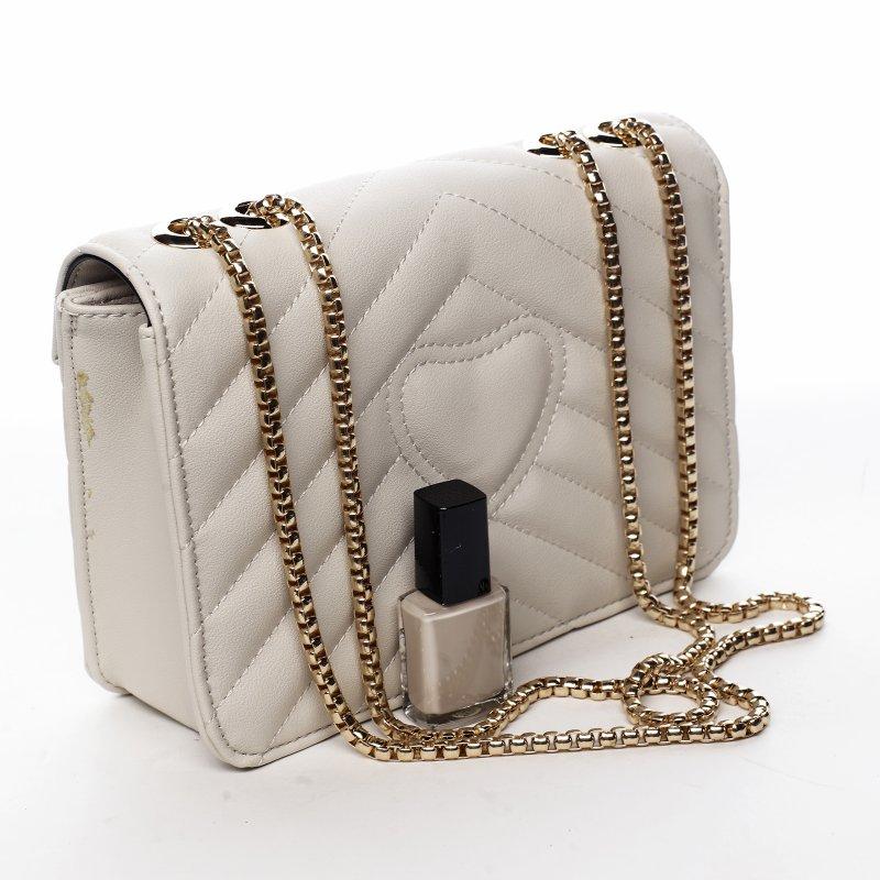 Trendová menší koženková kabelka Y&L, béžová