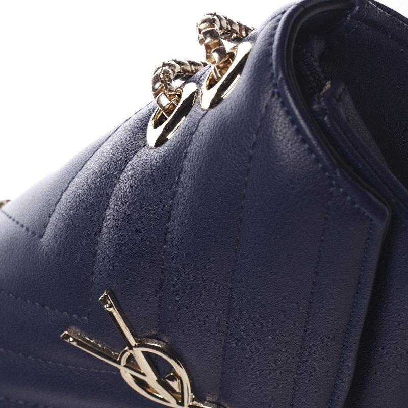Trendová menší koženková kabelka Y&L, tmavě modrá