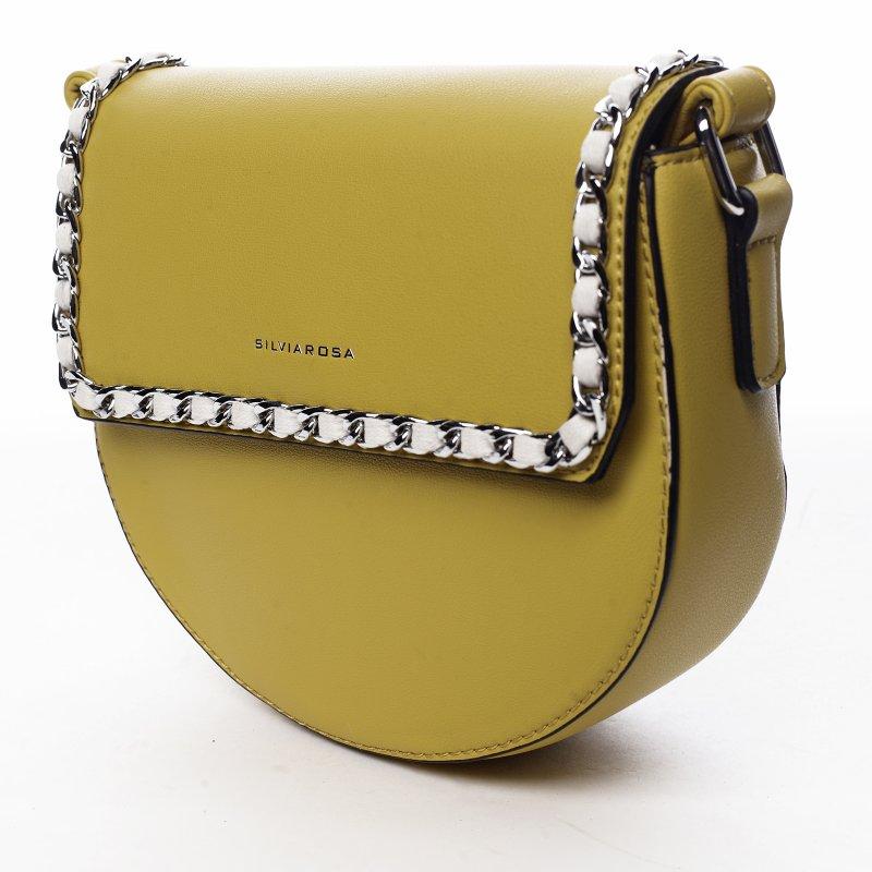 Trendová dámská koženková kabelka Sweet dreams, žlutá