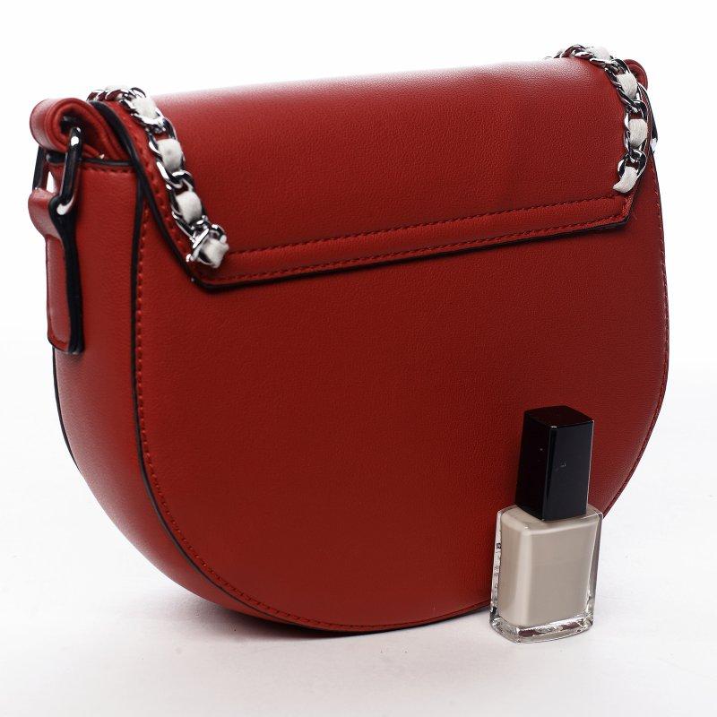 Trendová dámská koženková kabelka Sweet dreams, červená