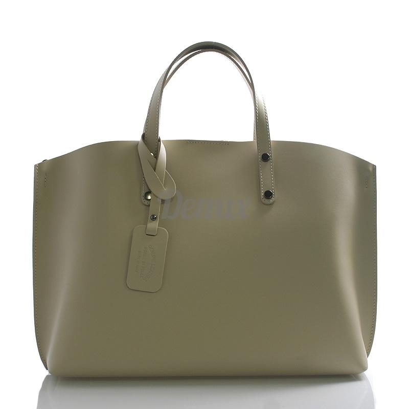 Dámská kožená kabelka do ruky Desideria, béžová