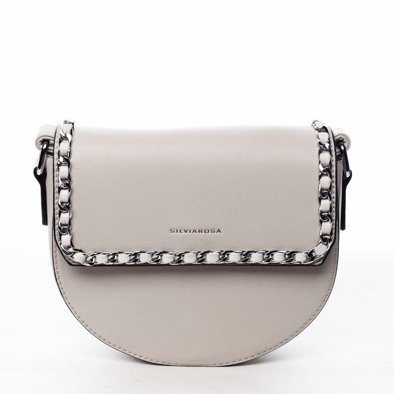 Trendová dámská koženková kabelka Sweet dreams, beige
