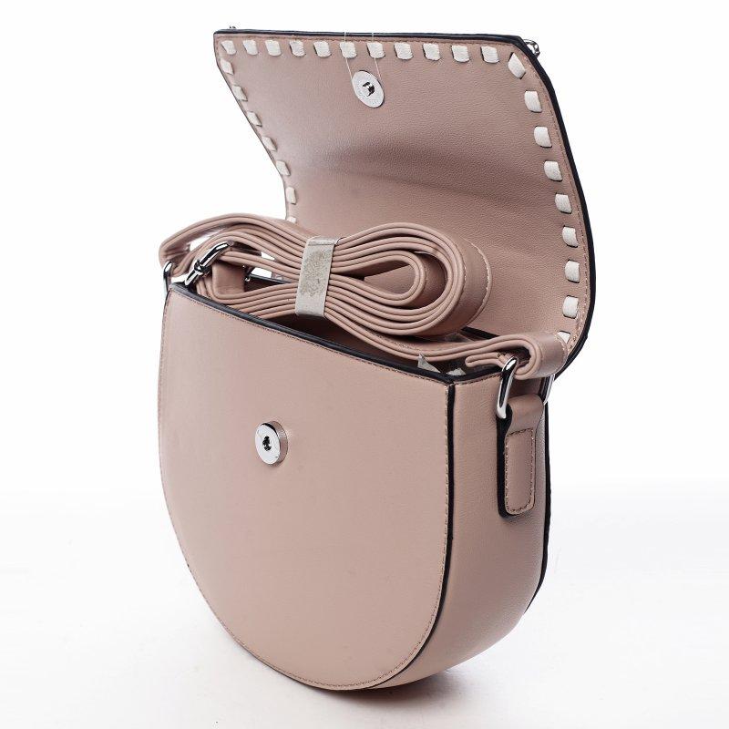 Trendová dámská koženková kabelka Sweet dreams, růžová