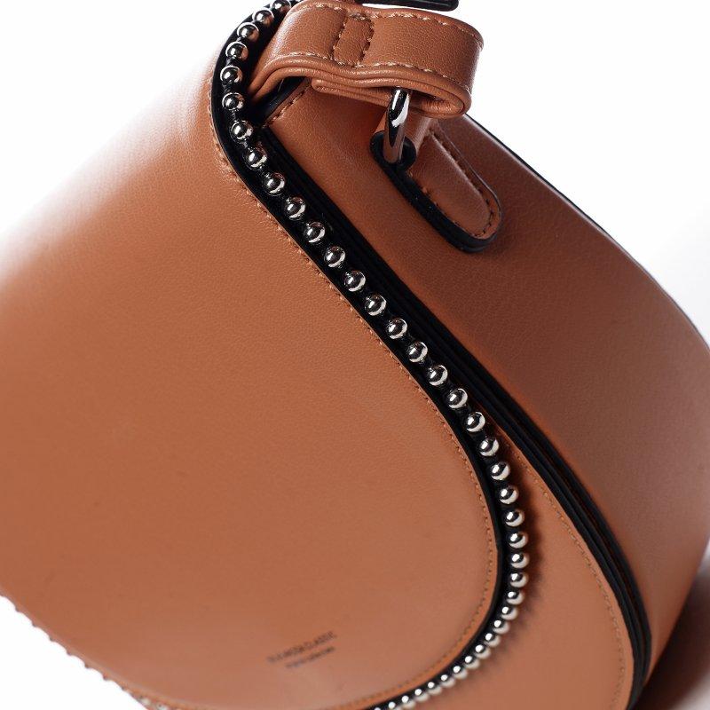 Menší koženková kabelka Little lady, oranžová