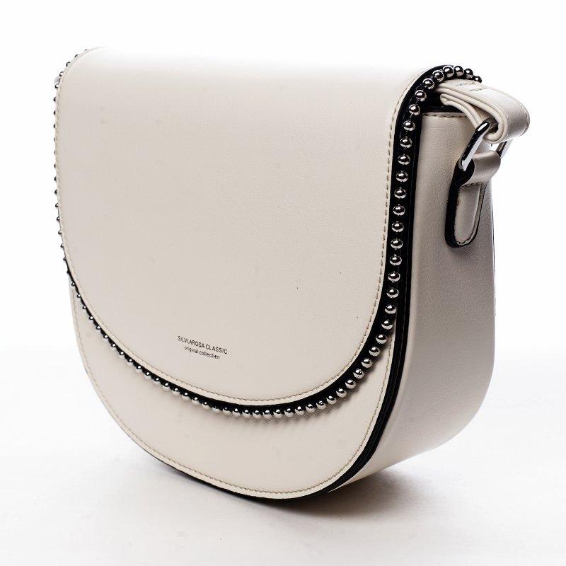 Menší koženková kabelka Little lady, béžová