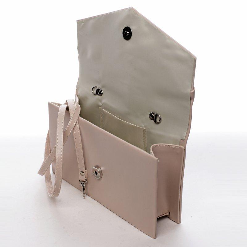 Elegantní společenská dámská kabelka Night queen, béžová