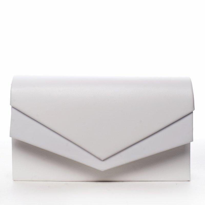 Elegantní společenská dámská kabelka Night queen, bílá