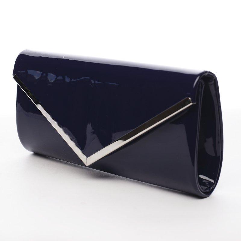Dámské lakované psaníčko Teressa, tmavě modré