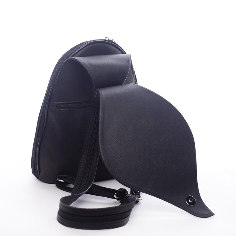 Dámský kožený batůžek Aile černý