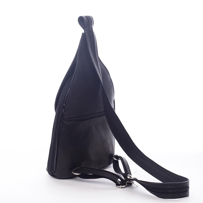Dámský kožený batůžek Aileron černý