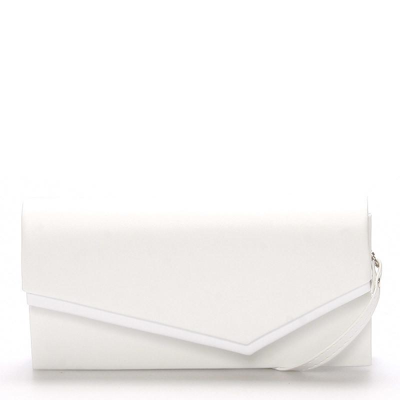 Elegantní dámské psaníčko Mirnas, bílé matné