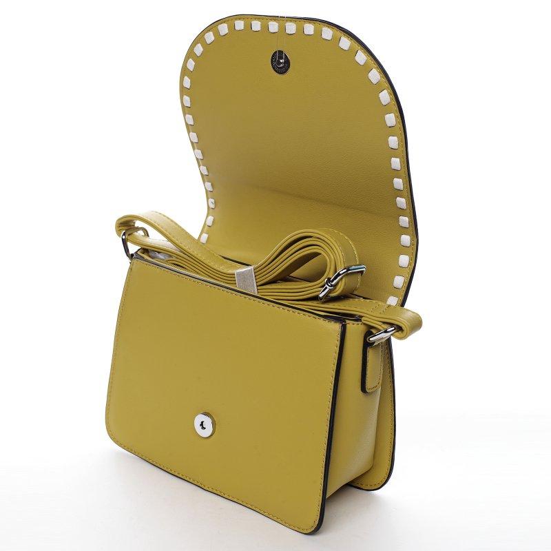 Moderní dámská koženková kabelka Colorful Sky, žlutá