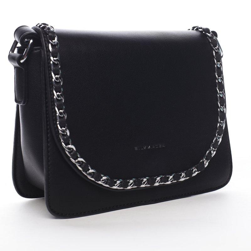 Moderní dámská koženková kabelka Colorful Sky, černá