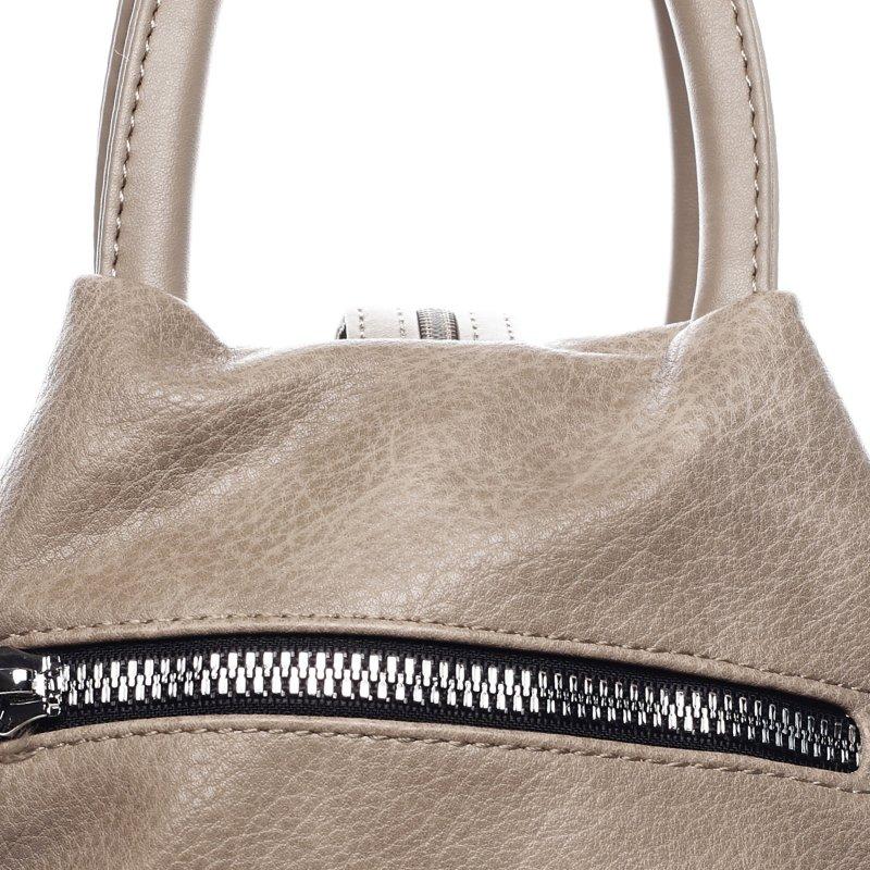 Praktický dámský koženkový kabelko batoh Travel joy,soil