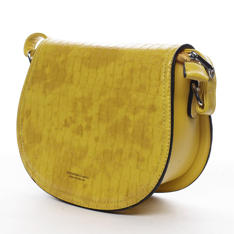 Moderní dámská koženková kabelka Siria, žlutá