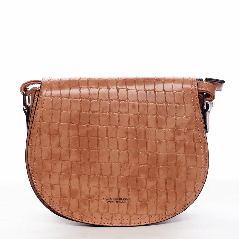 Moderní dámská koženková kabelka Siria, oranžová