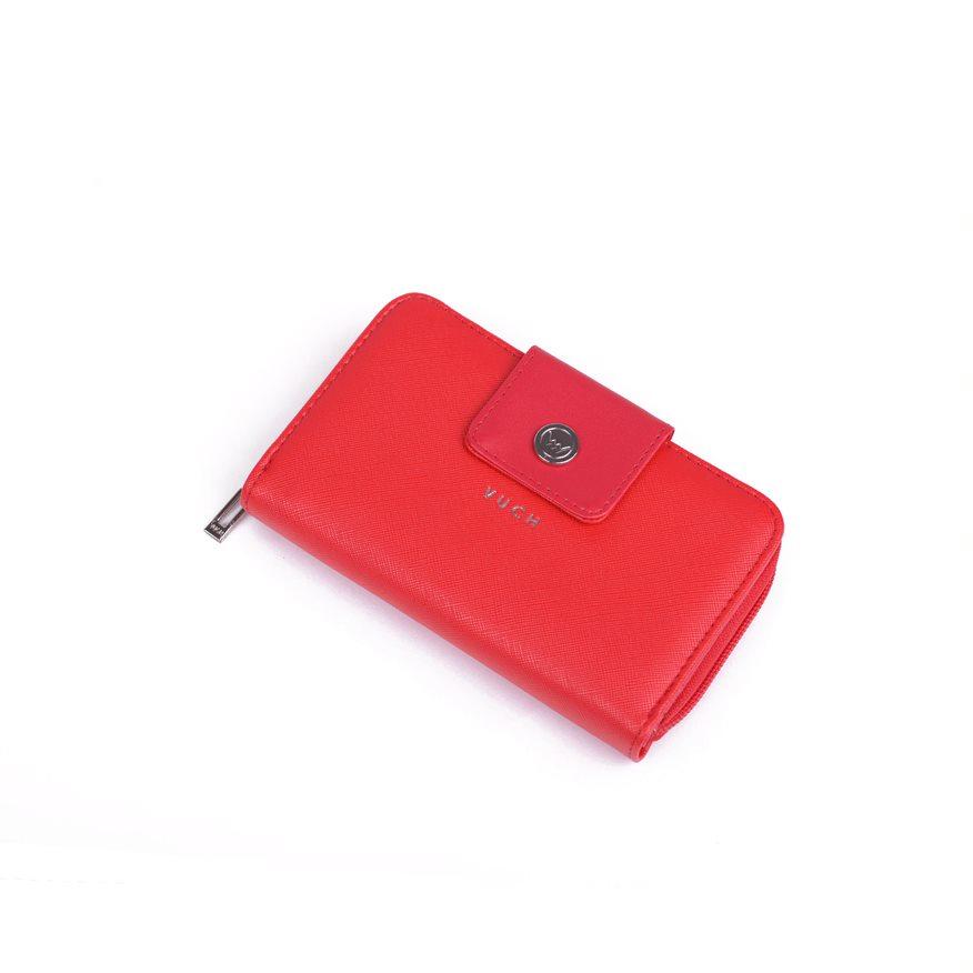 Dámská trendová koženková peněženka VUCH Rosita, červená