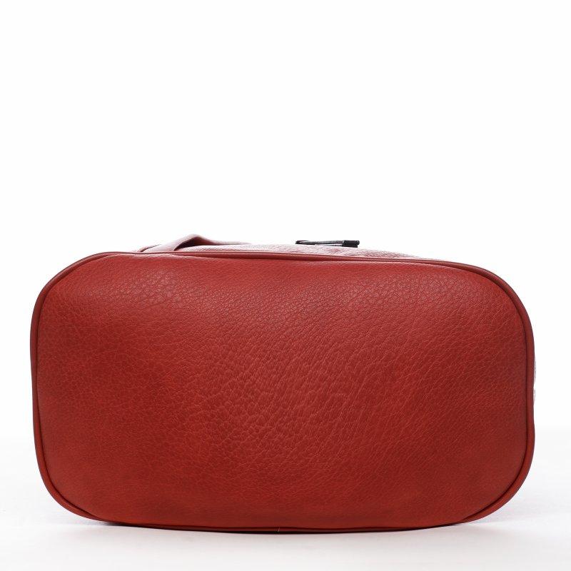 Praktický dámský kabelko batoh Sarah, červený